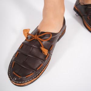 Pantofi Piele Naturala NICA Maro