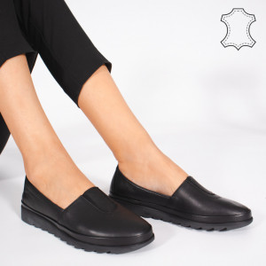 Pantofi Piele Naturala YOD Negri
