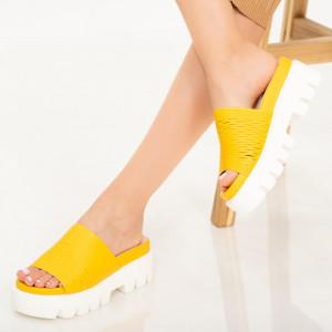 Papuci dama Amix galbeni