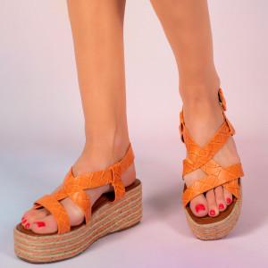 Platforme dama Mofe portocalii
