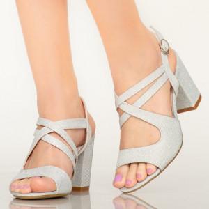 Sandale dama Fitz argintii