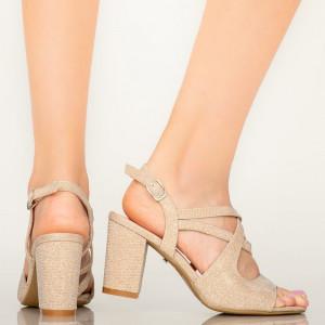Sandale dama Fitz aurii
