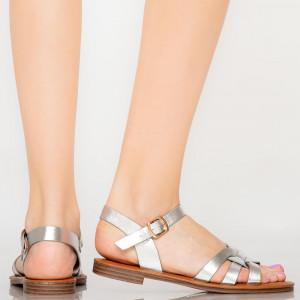 Sandale dama Mati argintii