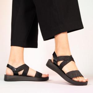 Sandale dama Plex negre