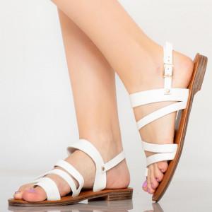 Sandale dama Tily albe