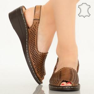 Sandale piele naturala Bak maro