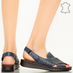 Sandale piele naturala Cox albastre