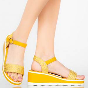 Sárga tenyér hölgy platformok