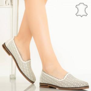 Timon bézs természetes bőr cipő
