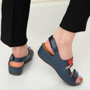 Women's navy Aco sandals