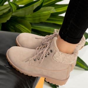 Ροζ μπότες γούνας Tef
