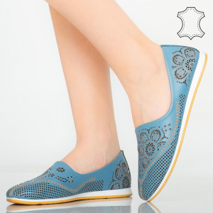 Cess kék természetes bőr cipő
