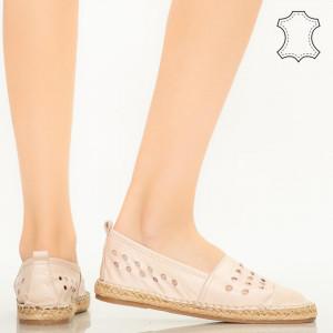Dove rózsaszín valódi bőr cipő