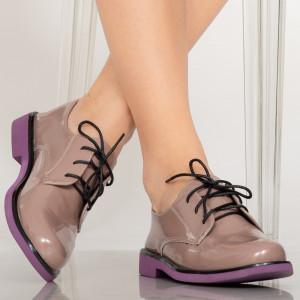 Pantofi casual Erty crem
