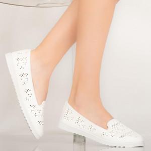 Pantofi casual Tase albi