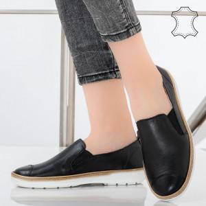 Pantofi piele naturala Bok negri