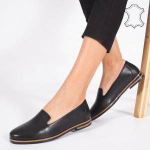 Pantofi Piele Naturala DUM Negri