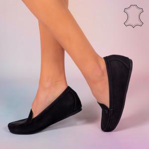 Pantofi piele naturala Mariu negri