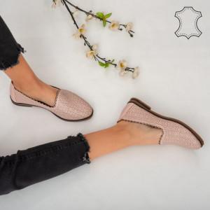 Pantofi piele naturala Timon roz