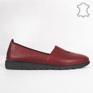 Pantofi Piele Naturala YOD Bordo