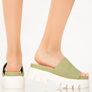 Papuci dama Amix verzi