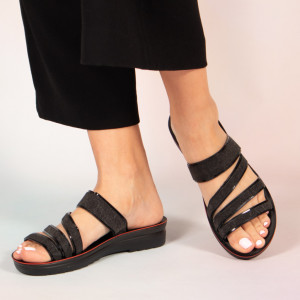Papuci dama Pans negri