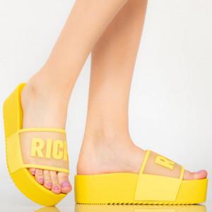Papuci dama Rich galbeni