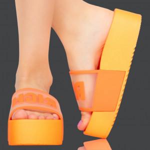 Papuci dama Rich portocalii
