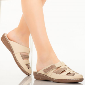 Papuci dama Rupa bej