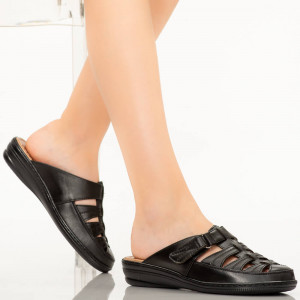 Papuci dama Rupa negri