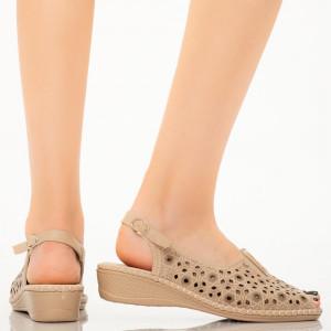 Sandale dama Alva camel