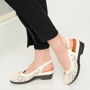 Sandale dama Amu bej