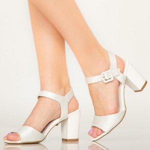 Sandale dama Cany albe