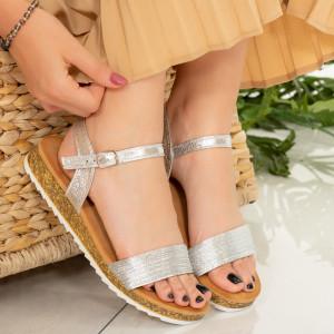 Sandale dama Dalila argintii