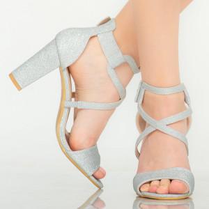 Sandale dama Echo argintii
