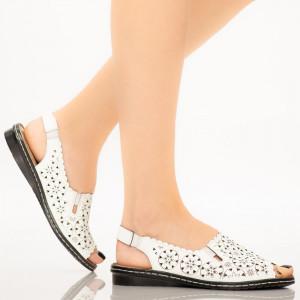 Sandale dama Mife albe