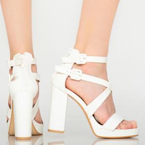 Sandale dama Oriel albe