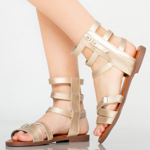 Sandale dama Osty aurii