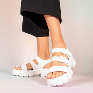 Sandale dama Panna albe