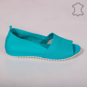 Sandale piele naturala Bet turcoaz