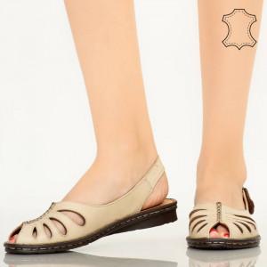 Sandale piele naturala Lya bej