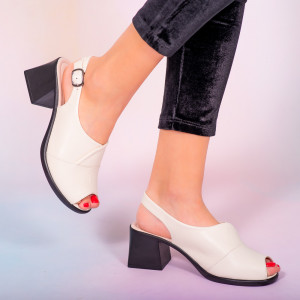 Sandale piele naturala Melo bej