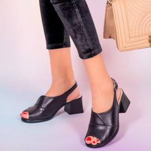 Sandale piele naturala Melo negre