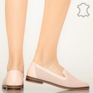 Velha rózsaszín természetes bőr cipő
