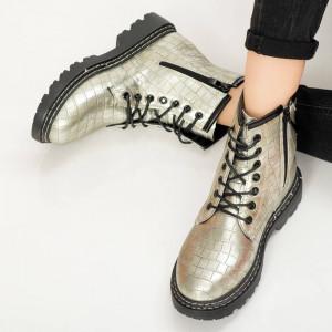 Ασημένιες μπότες γούνας Tisy