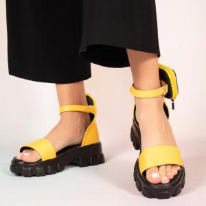 Κίτρινα γυναικεία σανδάλια Περσικά