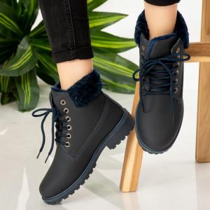 Μπλε μπότες γούνας Tef
