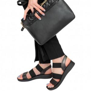 Аха черни дамски сандали