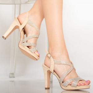 Бежови дамски сандали Cona