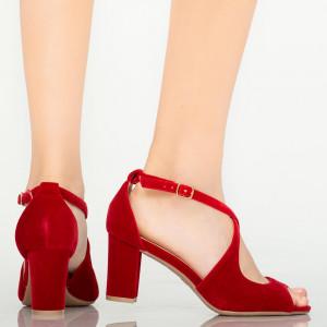 Дамски сандали от червена мечка